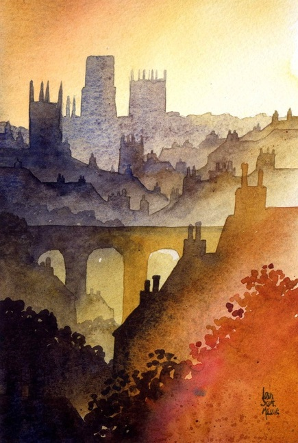 Durham from Western Hill by Ian Scott Massie www.ianscottmassie.com