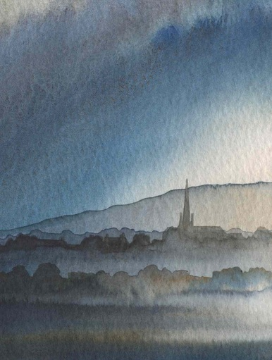 Masham from Rommer Common by Ian Scott Massie www.ianscottmassie.com