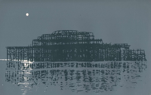 Brighton west pier by Ian Scott Massie